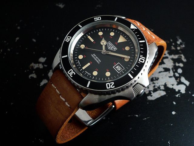 Heuer 844 monnin seiko diver diving watch and tag heuer for Tag heuer divers watch
