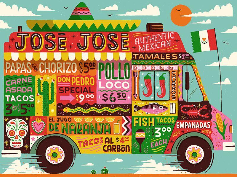 Mobile Mexican Illustration Design Graphic Design Inspiration