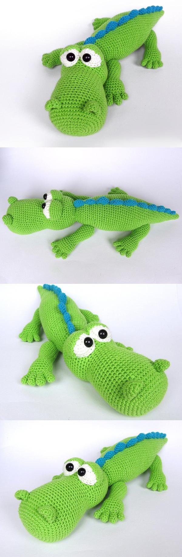 Crocodile Alfred amigurumi pattern by DioneDesign | Häkeltiere ...