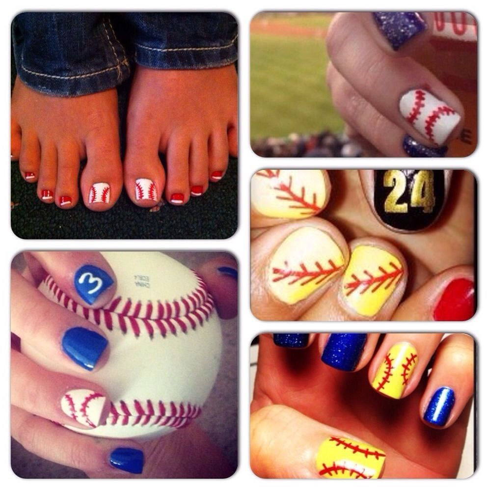 These softball / baseball nail art stickers are no longer available ...