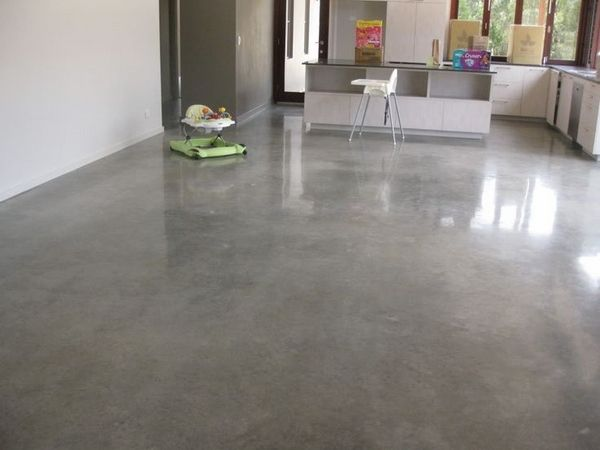 Modern home flooring ideas polished concrete floors pros for Kitchen flooring options pros and cons