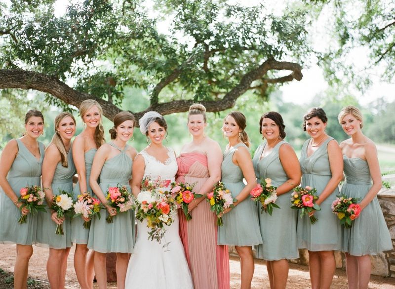 Love The Diffe Color Dress For Bridesmaid And Of Bridesmaids Dresses