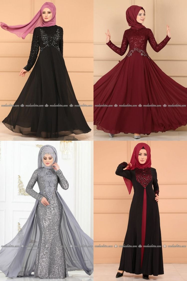 2020 Kis Sezonu Modaselvim Tesettur Abiye Elbise Modelleri 4 5 Elbise Modelleri Resmi Elbise Elbise