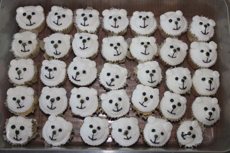 Image result for polar bear cupcakes