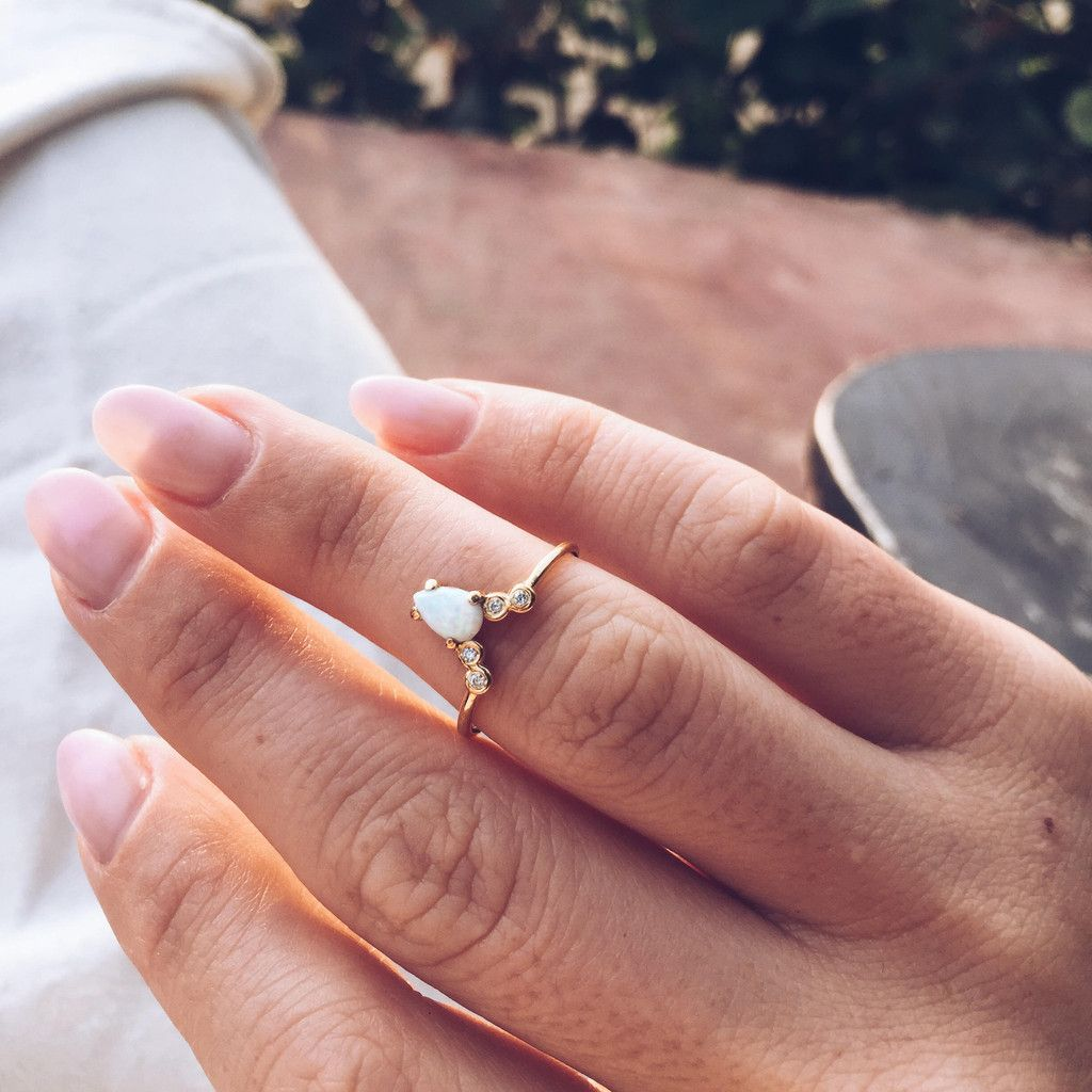 Opal & Diamond La Kaiser for Local Eclectic Exclusive Ring | Diamond ...