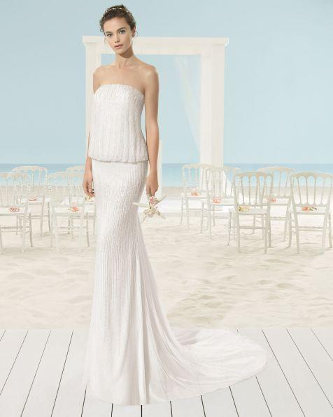 XACIN vestido de novia Aire Barcelona Beach Wedding 2017  72f463d62de3