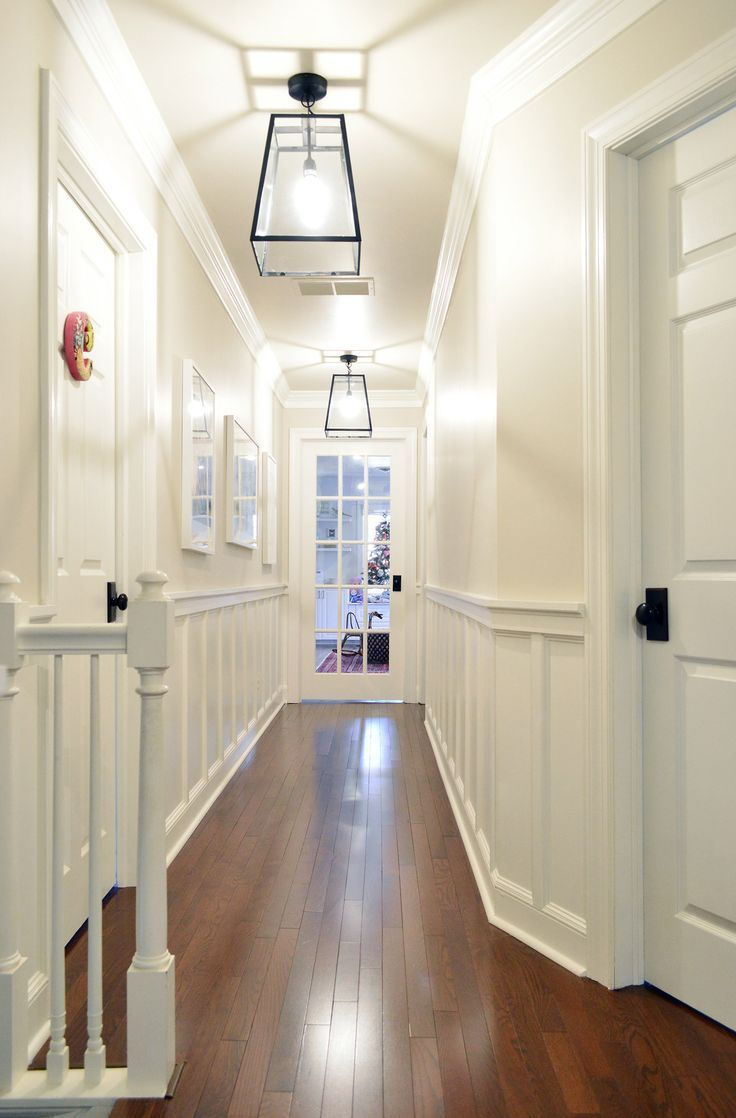How To Select Light Fixtures That Work Together Without Being Boring Hallway Light Fixtures Hallway Lighting Basement Remodeling