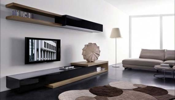 Living Room Tv Wall Unit Designs Modern Living Room With Slim Wall
