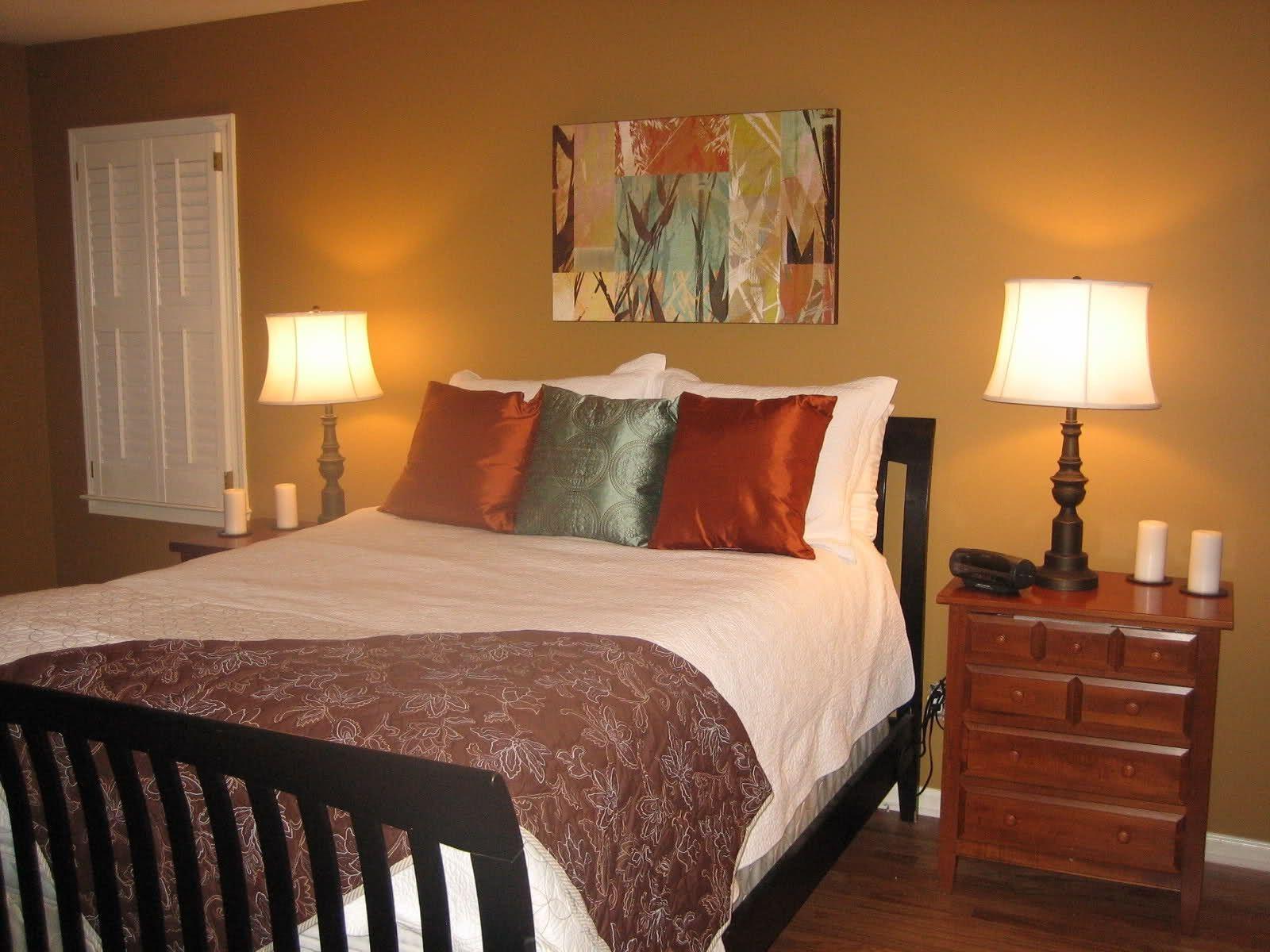 Rec maras en color ocre pintura cuartos pinterest - Habitaciones color naranja ...