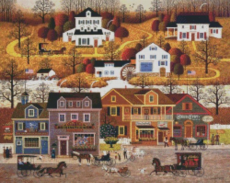 Charles Wysocki With Images Cross Stitch
