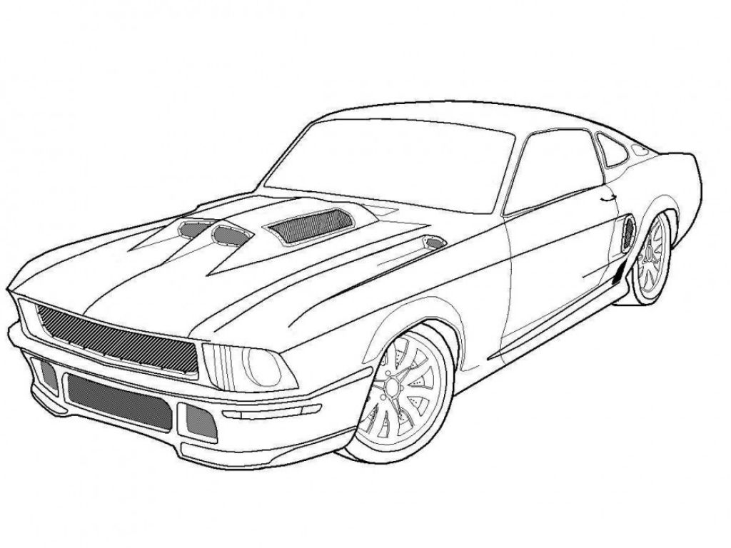 Antique cars coloring pages - Muscle Car Coloring Page