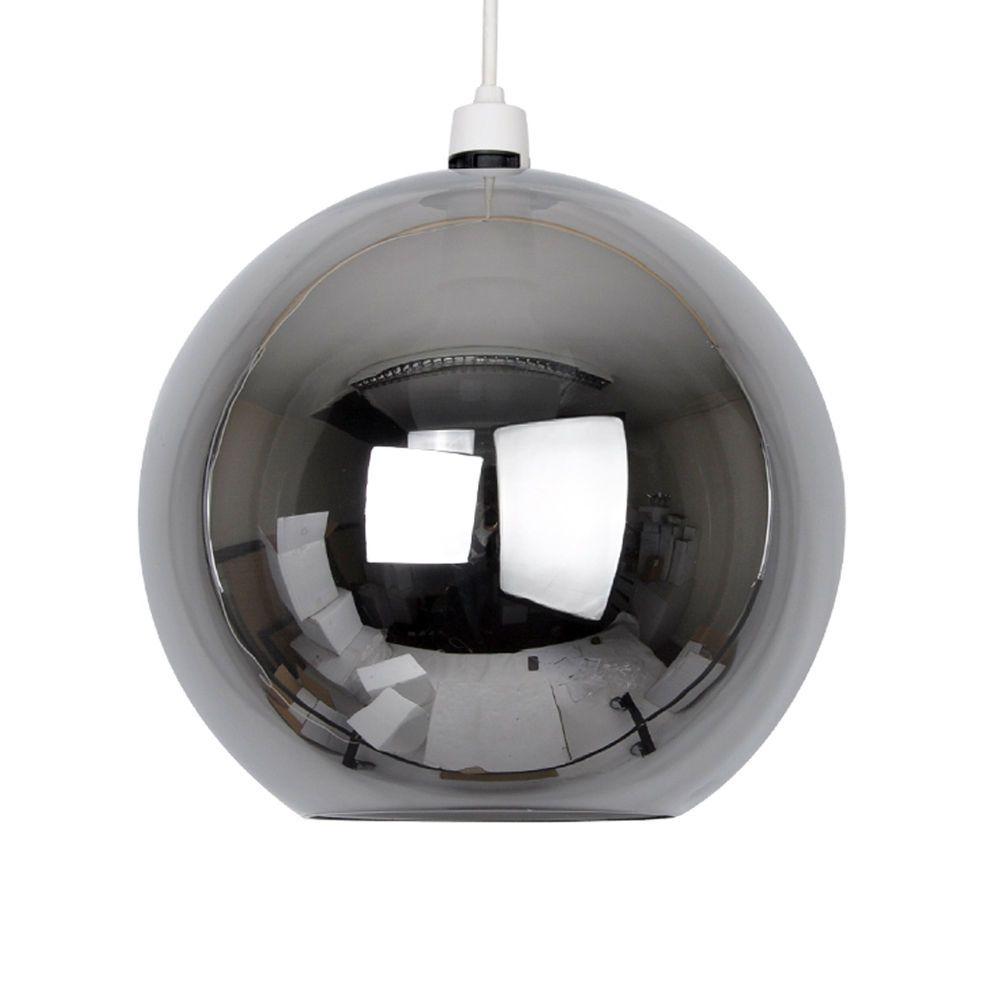 Modern Round Black Chrome Glass Ball Ceiling Pendant Light Lamp