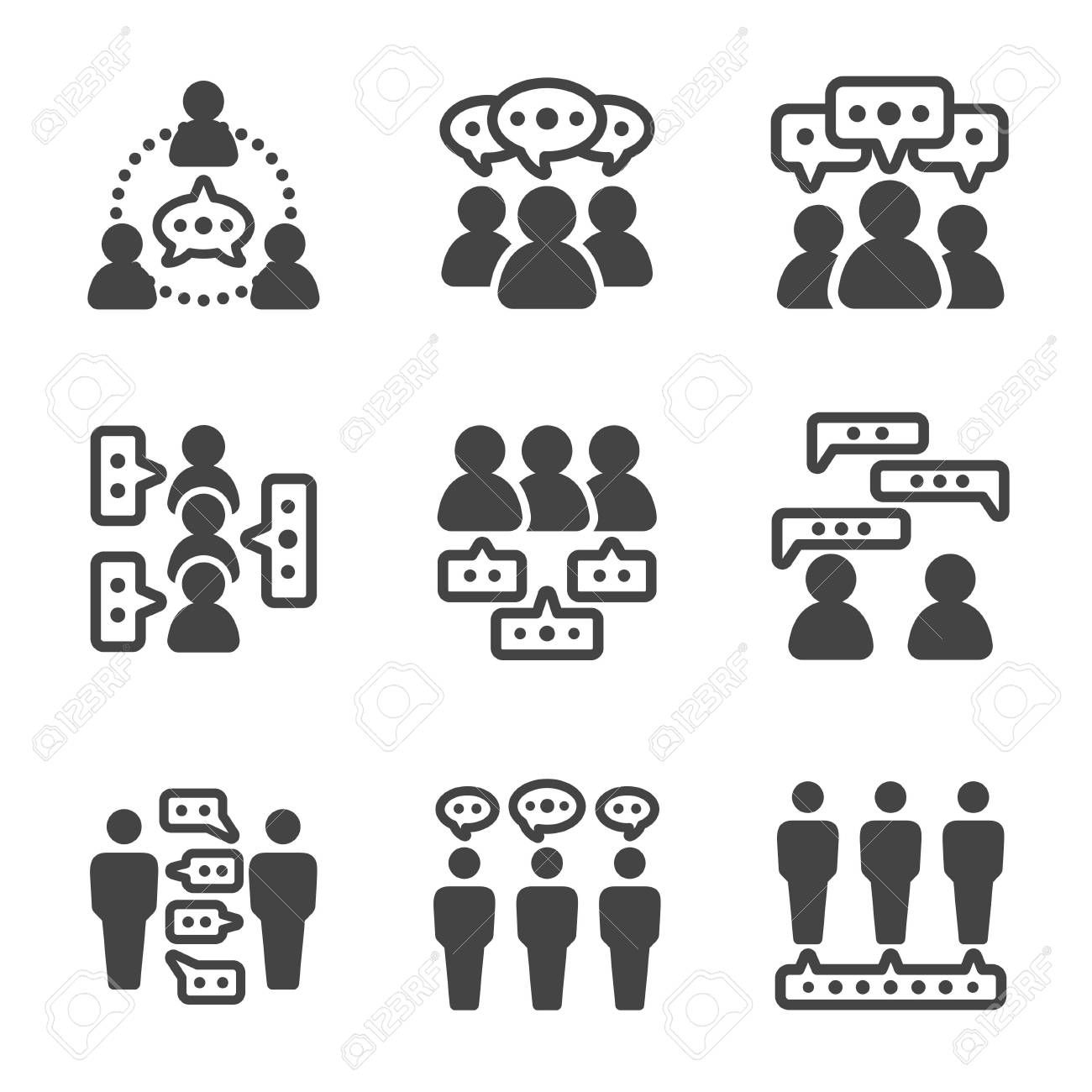Dialogue People Talking People Icon Vector And