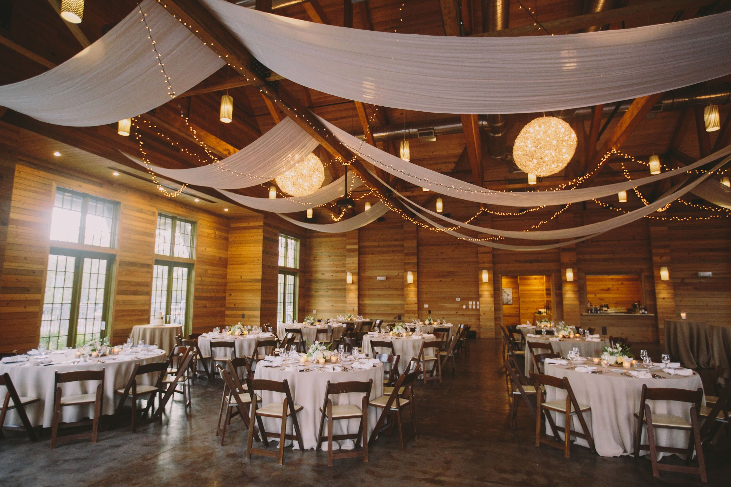 Indoor Wedding Reception Ceiling Decor Ideas Venue The Lakehouse At Watercolor Inn