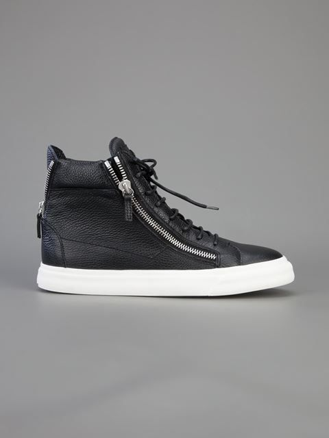 b9614d5bc3f82 Giuseppe Zanotti Design Zipped Hi-top Sneakers - Biondini Paris - Farfetch .com