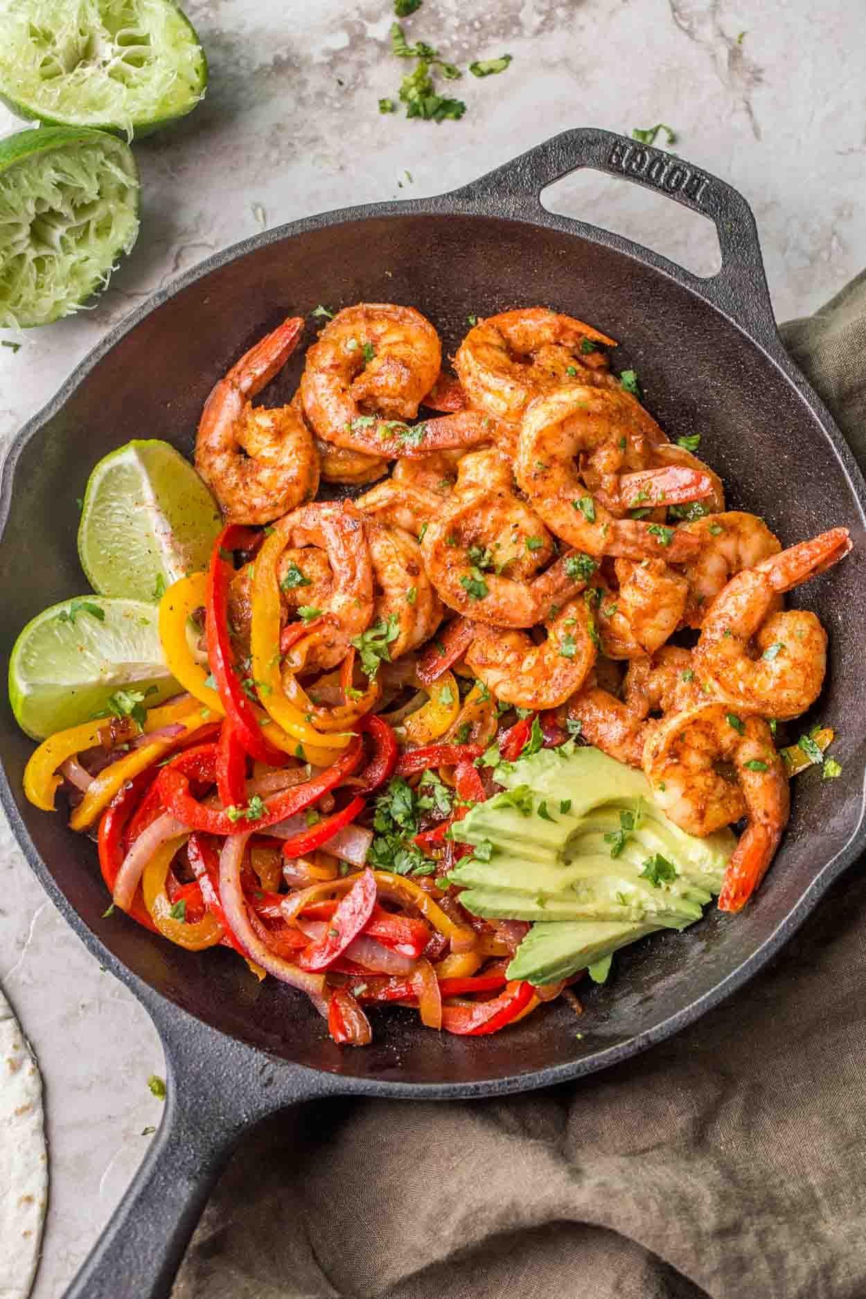 Shrimp Fajitas Recipe - Valentina's Corner