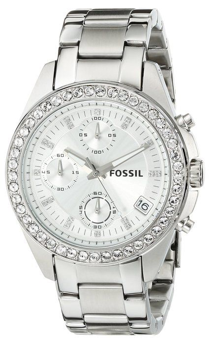 8d936dcefa25 Fossil ES2681 - Reloj cronógrafo de cuarzo para mujer con correa de acero  inoxidable
