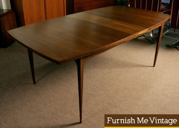 88b3d7ee31e2 Huge Broyhill Brasilia Rectangular Mid Century Modern Dining Table -  extendable - too big