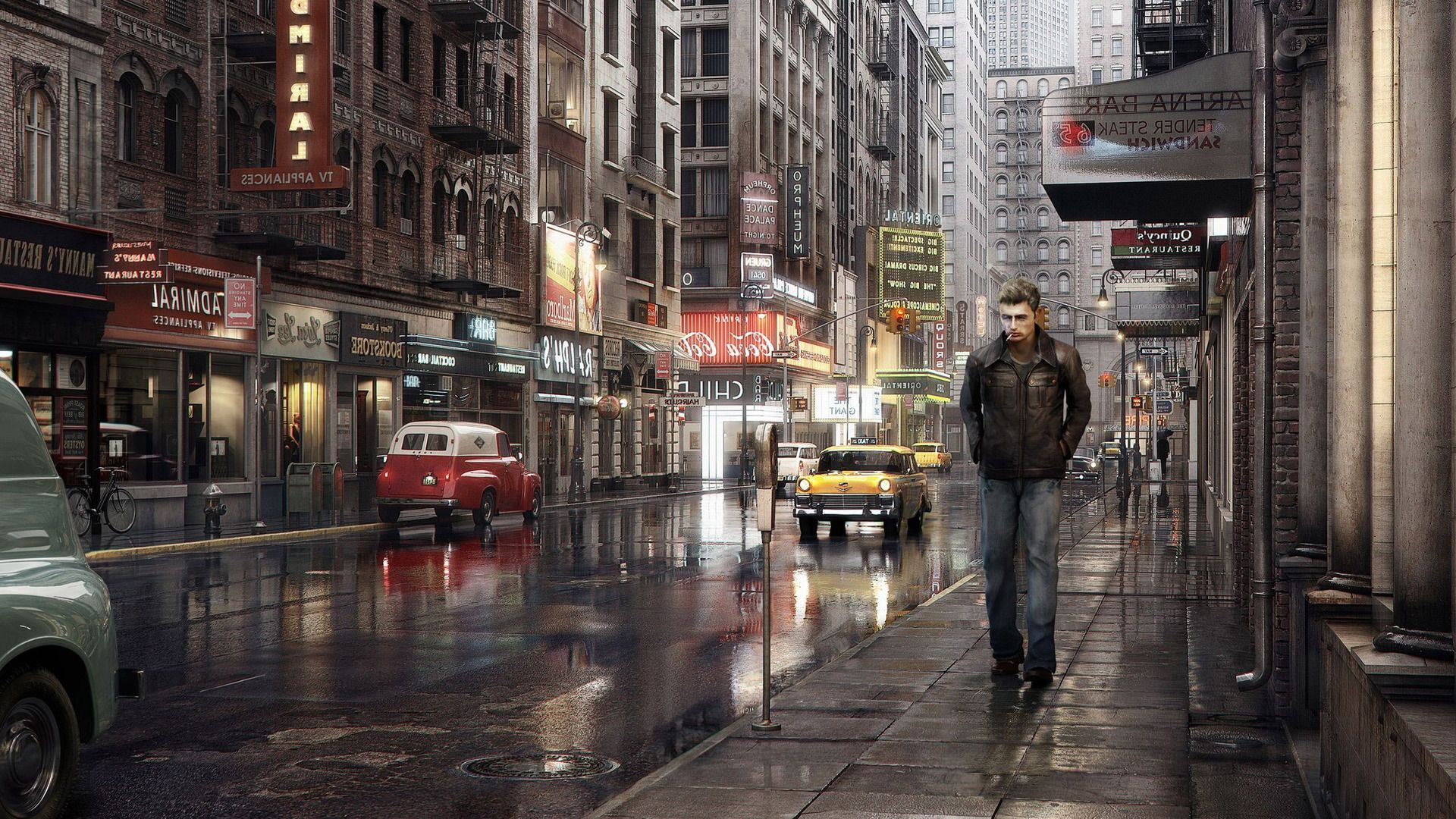 Lonely Man In The City Wallpaper City Wallpaper Lonely Man Wallpaper