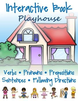 Create your own playhouse to practice expressive and receptive language skills.