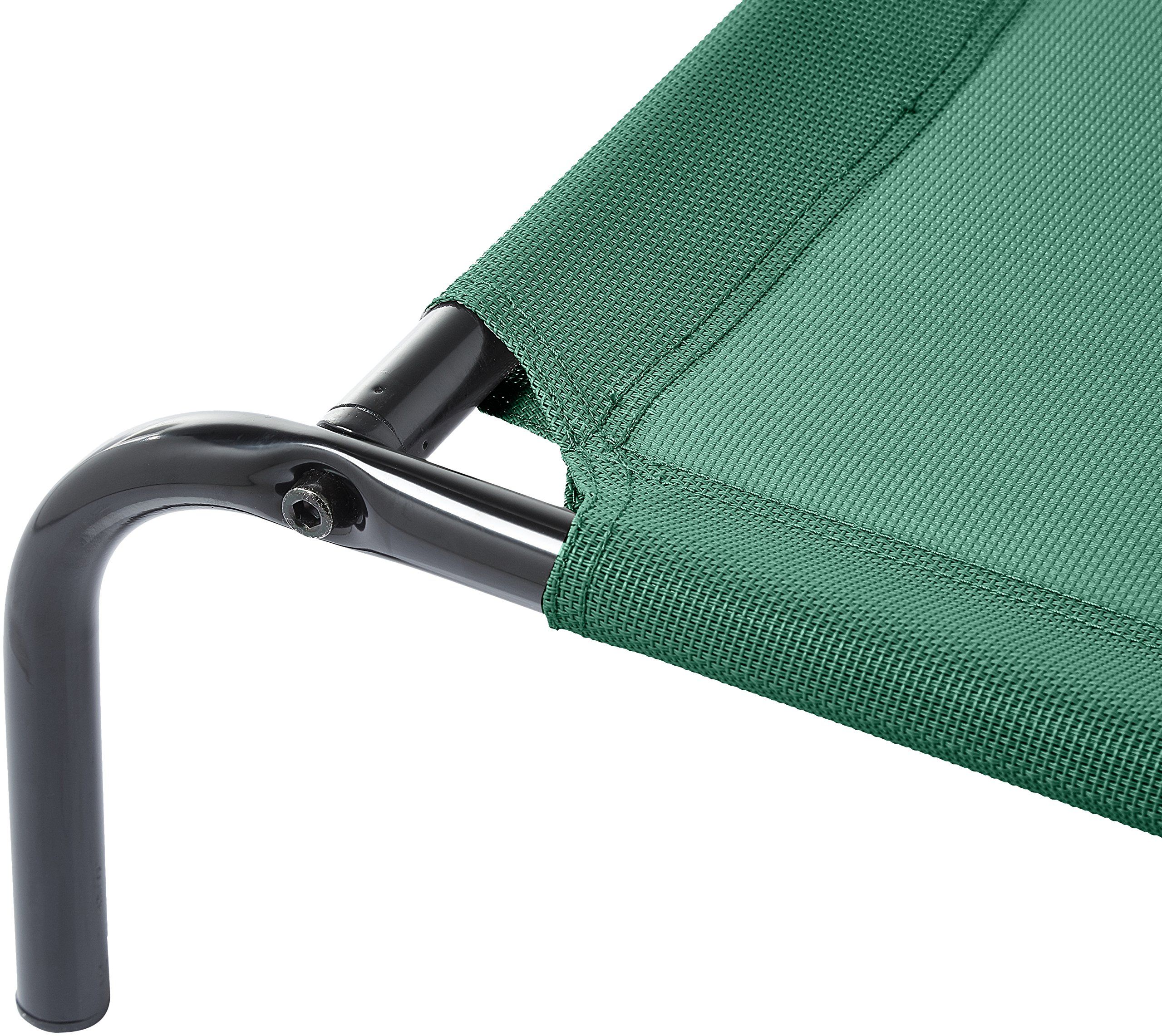 AmazonBasics Elevated Cooling Pet Bed M Green ** Discover