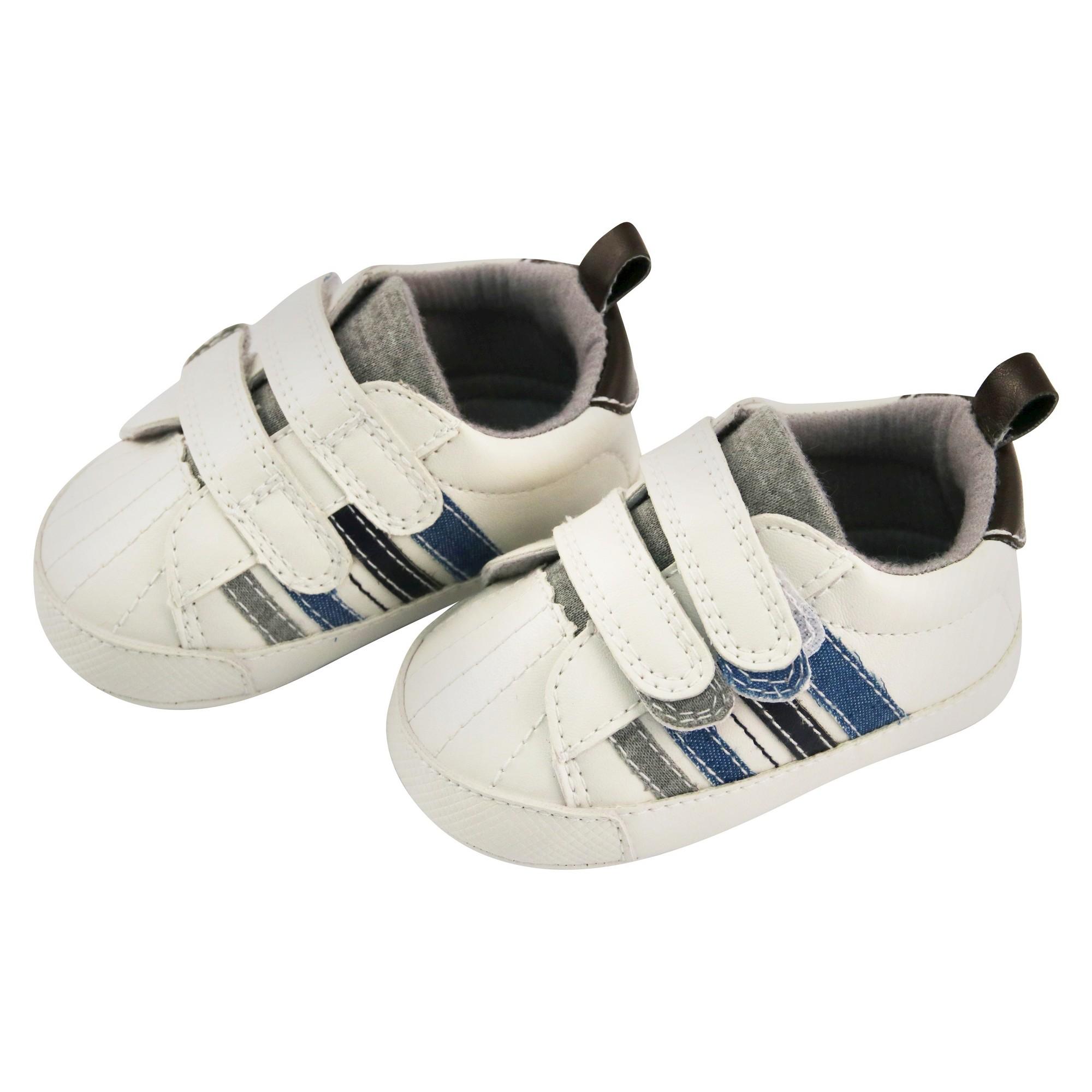 Baby Boys Rising Star Velcro Crib Shoes White 9 12M