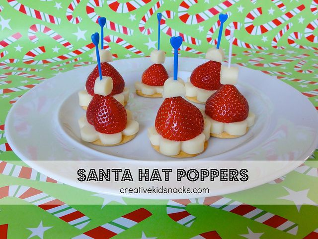 Creative kid snacks santa hat poppers perfect kids finger food creative kid snacks santa hat poppers perfect kids finger food for a christmas party forumfinder Image collections