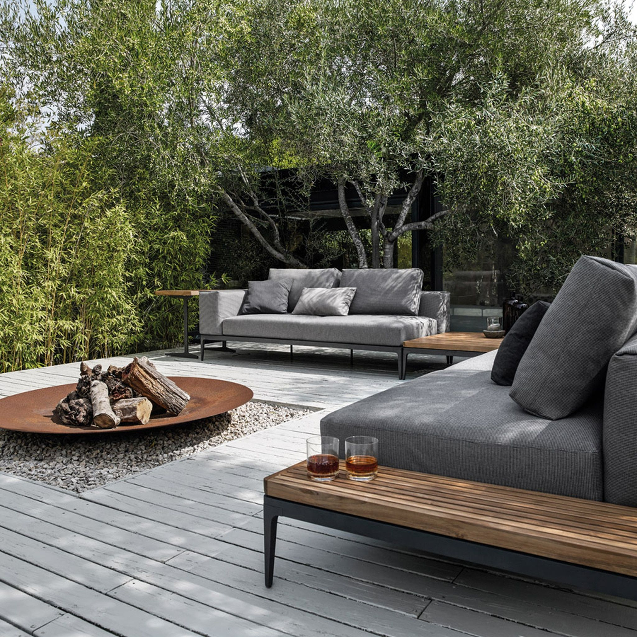 Gloster Grid Left Chaise Unit Authenteak In 2021 Outdoor Fire Pit Patio Outdoor Patio Furniture Outdoor Decor