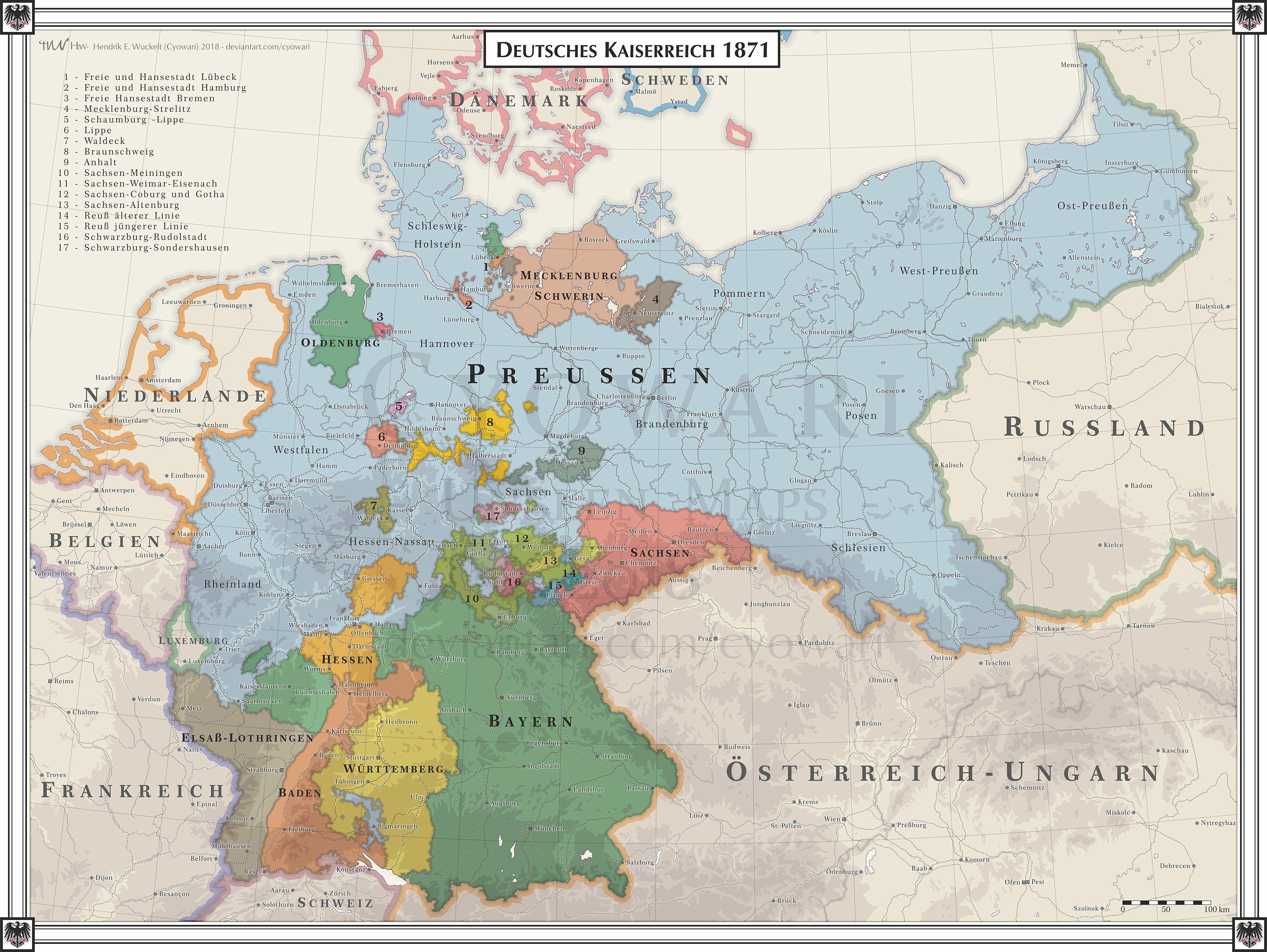 German Empire 1871 Mapmania German Empire History
