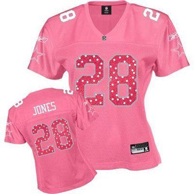 buy popular 16bf1 05931 Reebok Dallas Cowboys Felix Jones Women's Pink Sweetheart ...