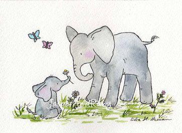 Elephant Nursery Art Print By Jasper And Ruby Contemporary Decor Etsy