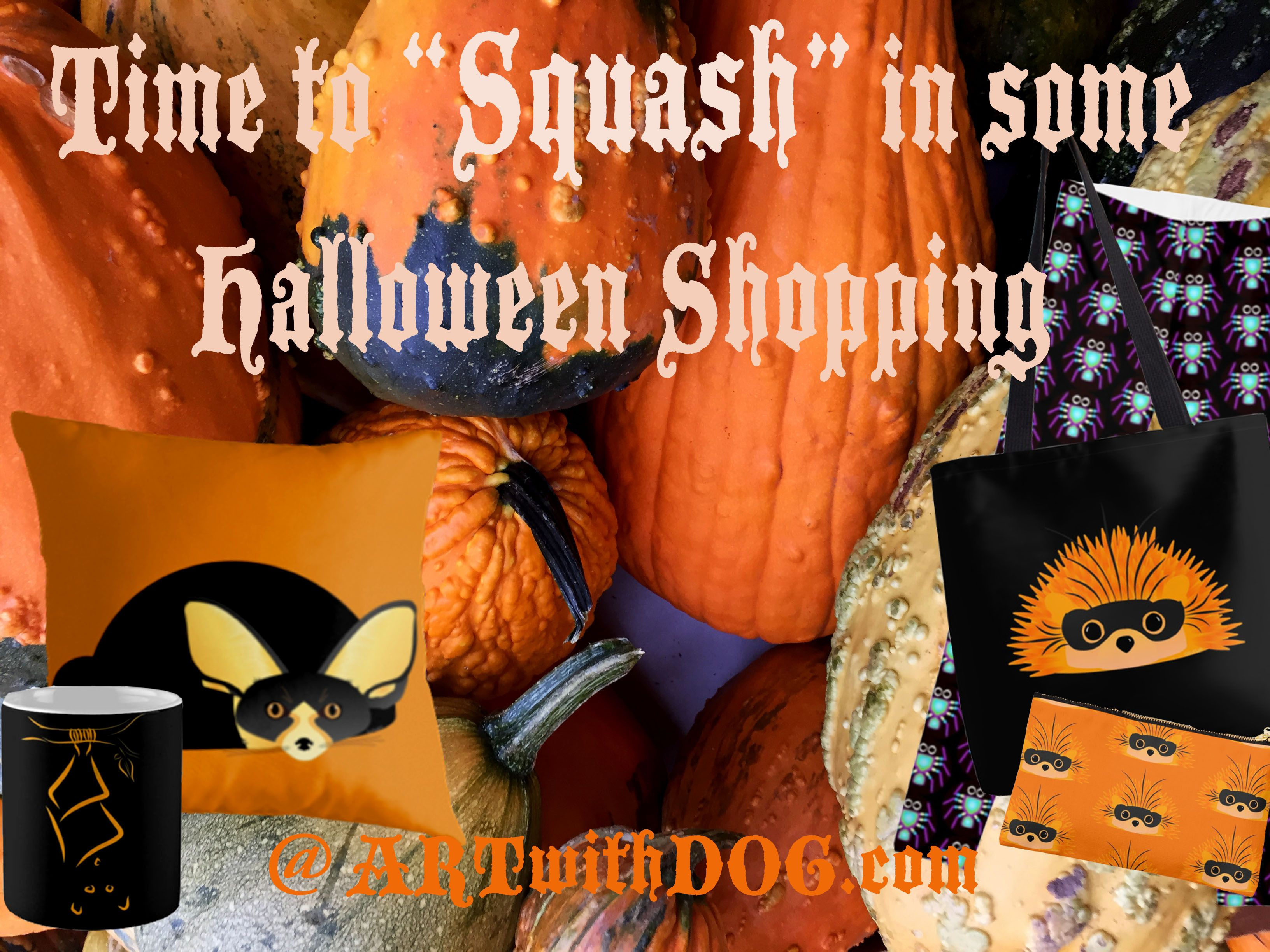 Halloween Is Fast Approaching, Be Ready For The Fun! @ ARTwithDOG.com #