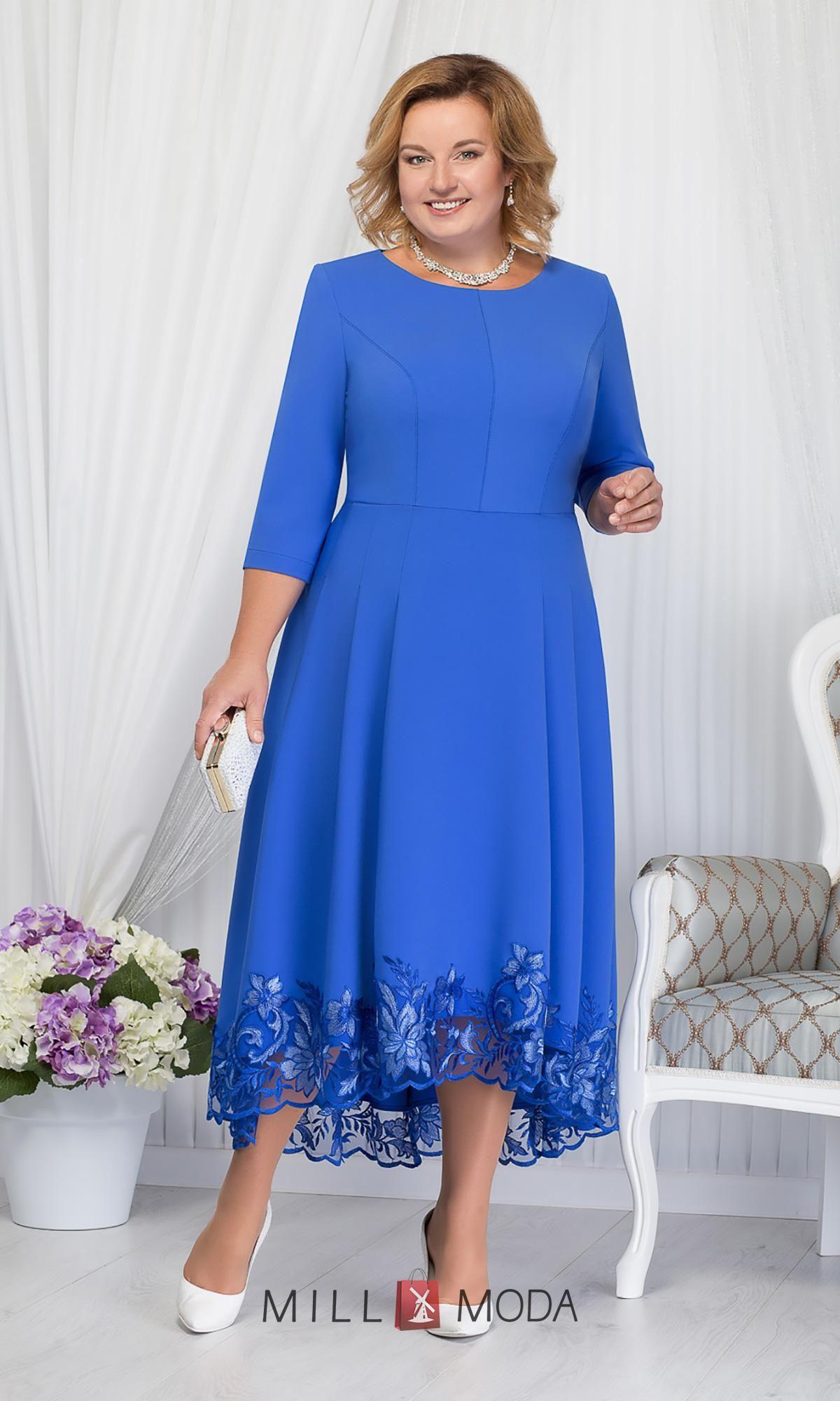Платье Ninele 5660 василек