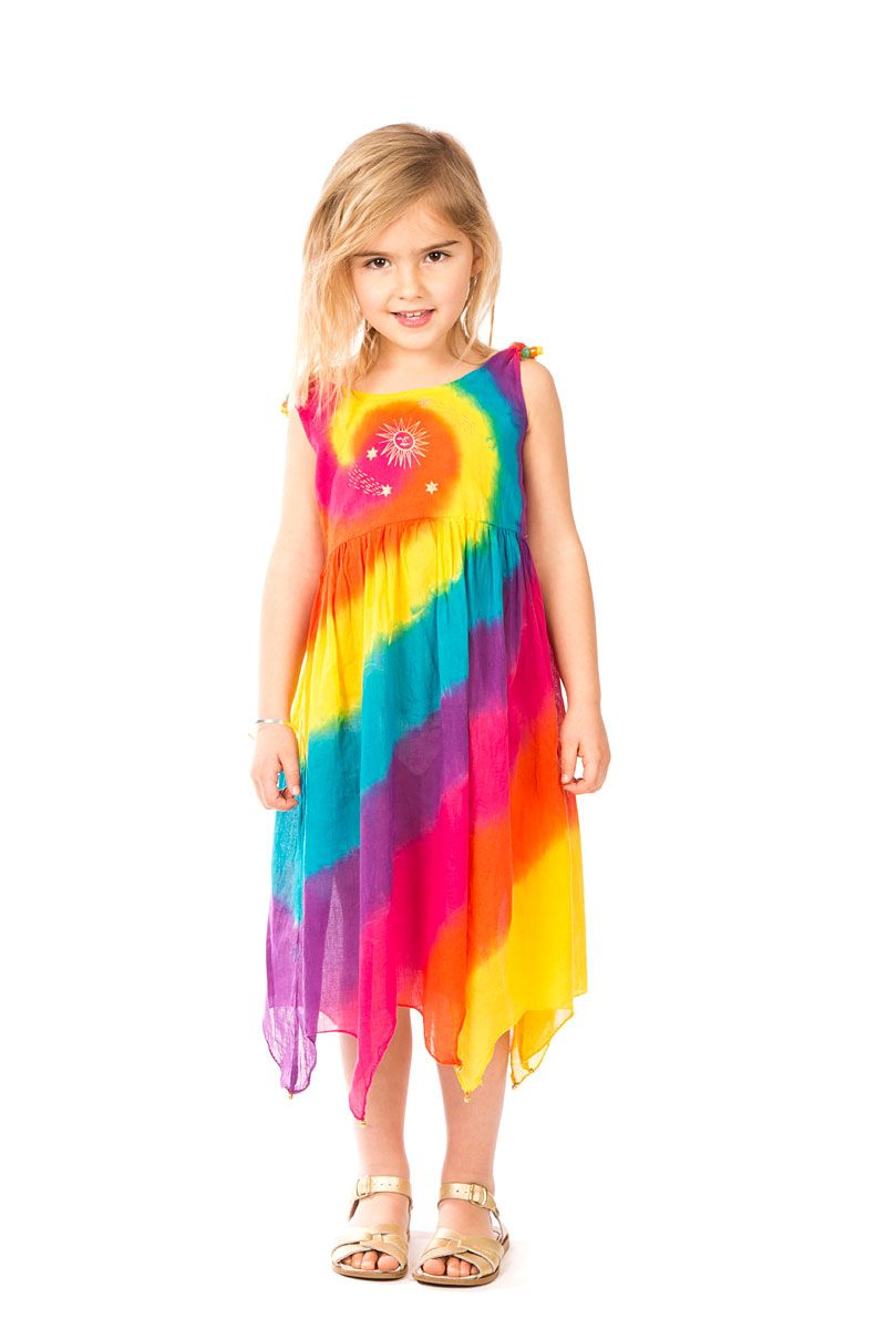 Kids Rainbow Bright Kids Hippie Dress. Bohemian fashion at Tree of ...