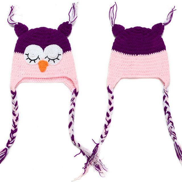 Knitted Crochet Baby Owl Hat | Products | Pinterest