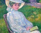Lady in White, Portrait of Mrs. Théo Van Rysselberghe - Theo van Rysselberghe
