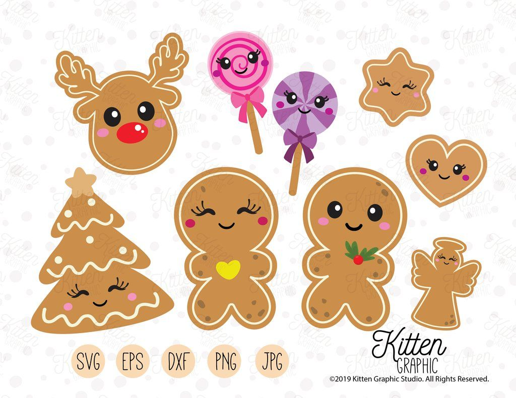 Gingerbread Christmas SVG File Instant Download