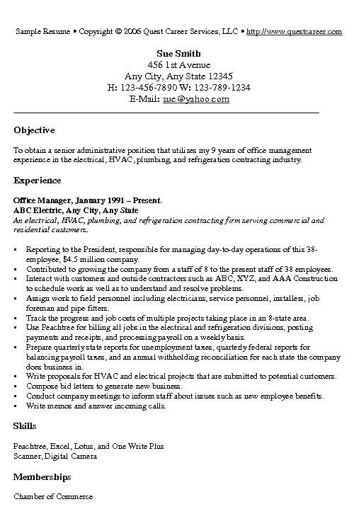 experienced engineer resume resume examples office manager