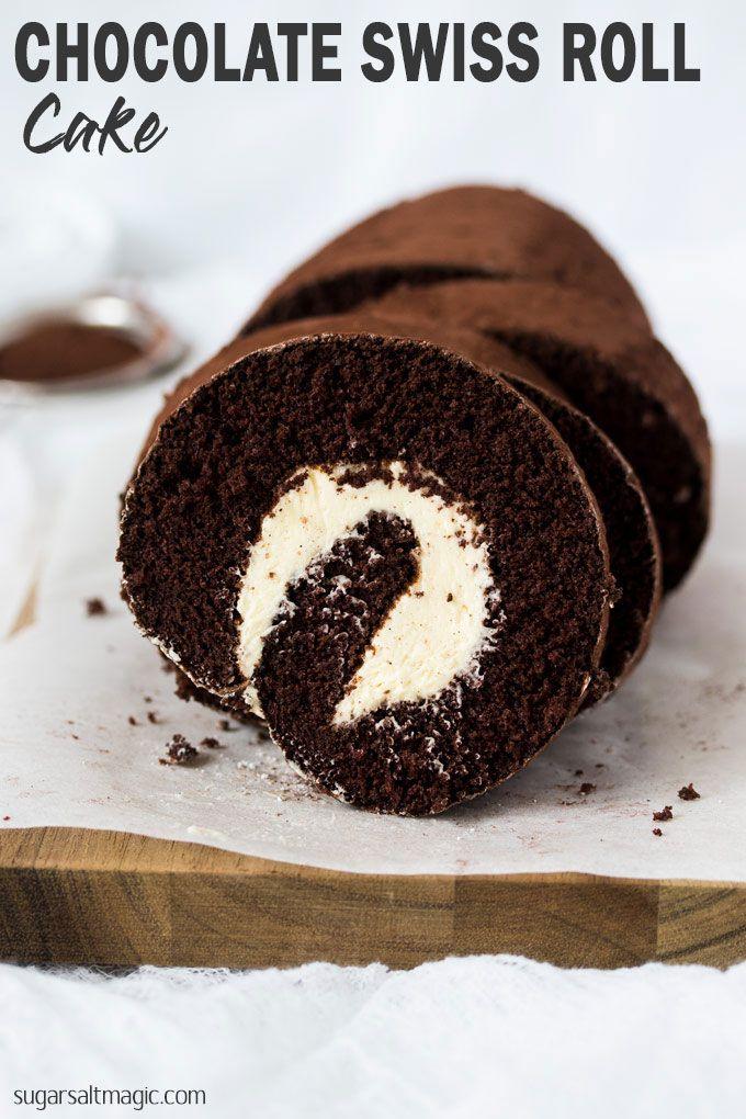 Chocolate Roll Cake #rollcake
