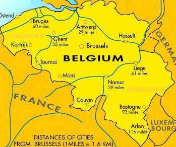 Belgium Travel Belgium Poland Pinterest Belgium map