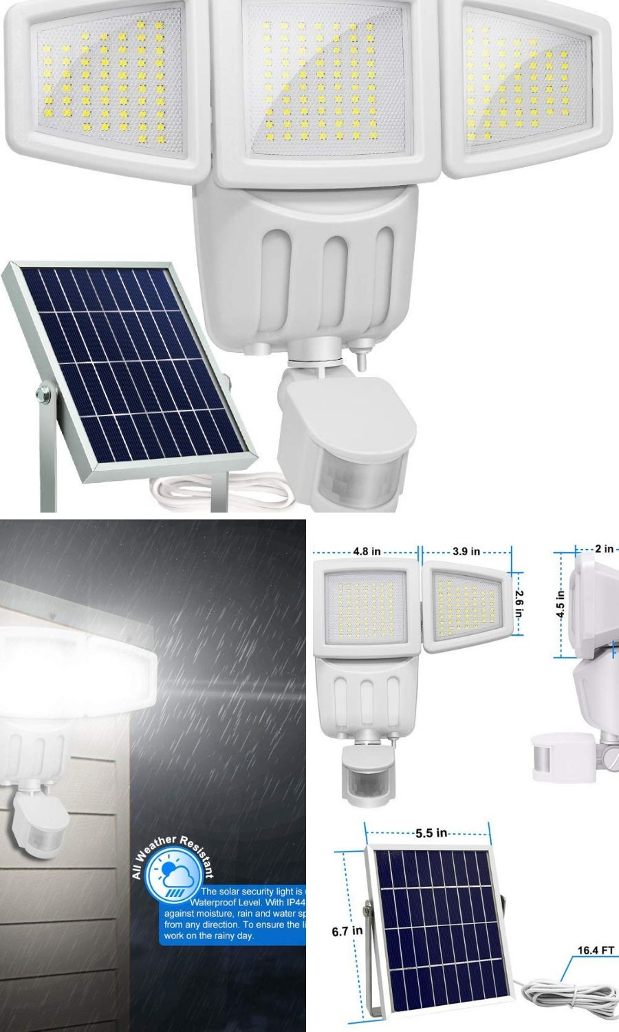 Brighter Wider Solar Led Lights Great For Your Garage With High Efficiency Solar Panel And Motion Sensor For Your Home Outdoorledlighting Mot Solar Lights