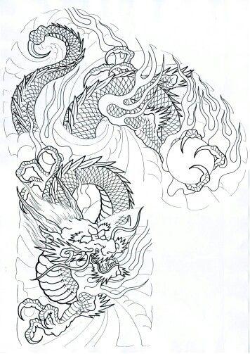 Template Dragon Tattoo Art Japanese Tattoo Art Japanese Dragon Tattoo