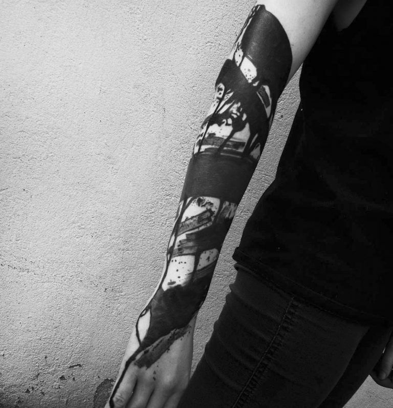 Heavy Blackwork Tattoos By 3kreuze With Images