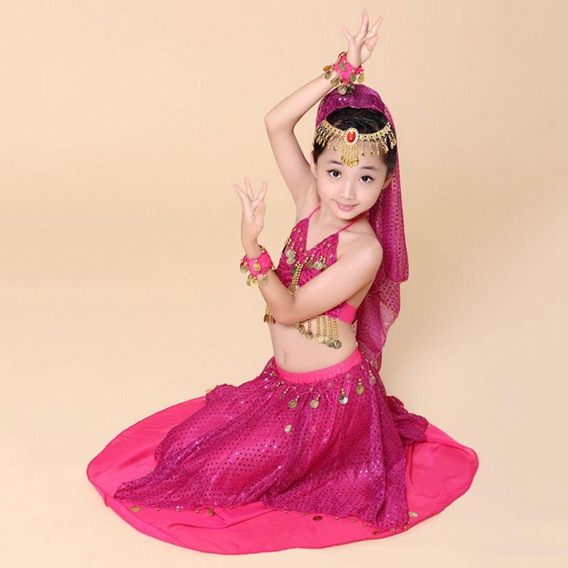 3e8c6b0ce Hot Sale Kids Belly Dance Outfits Girls Fancy Bollywood Dance ...