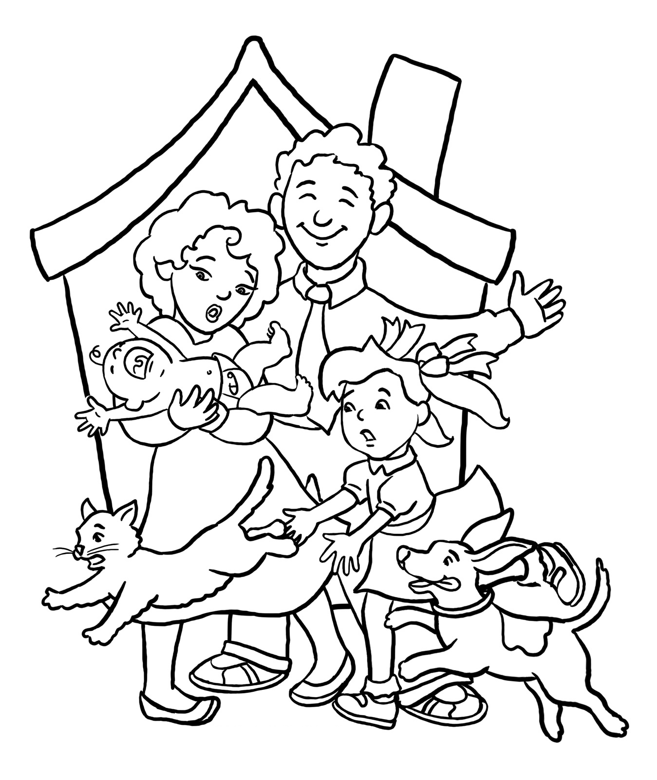 happy family coloring pages