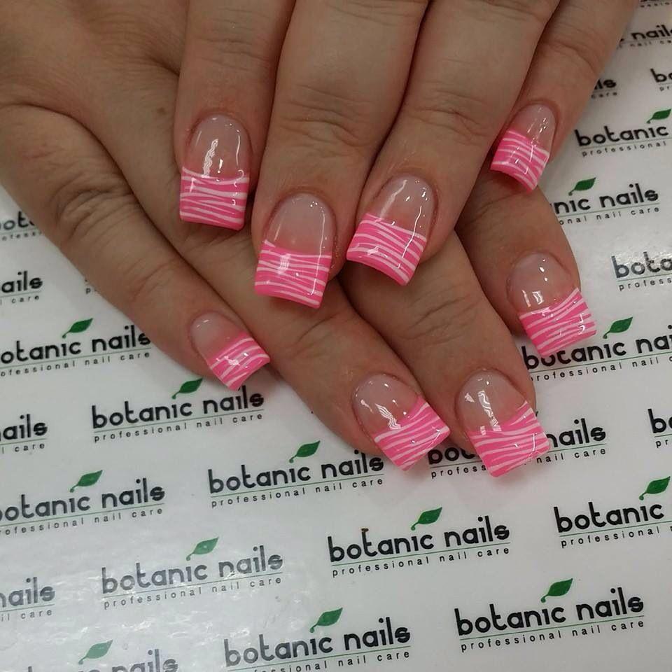 Pink zebra nails nails pinterest - Pink Zebra Tip Nails