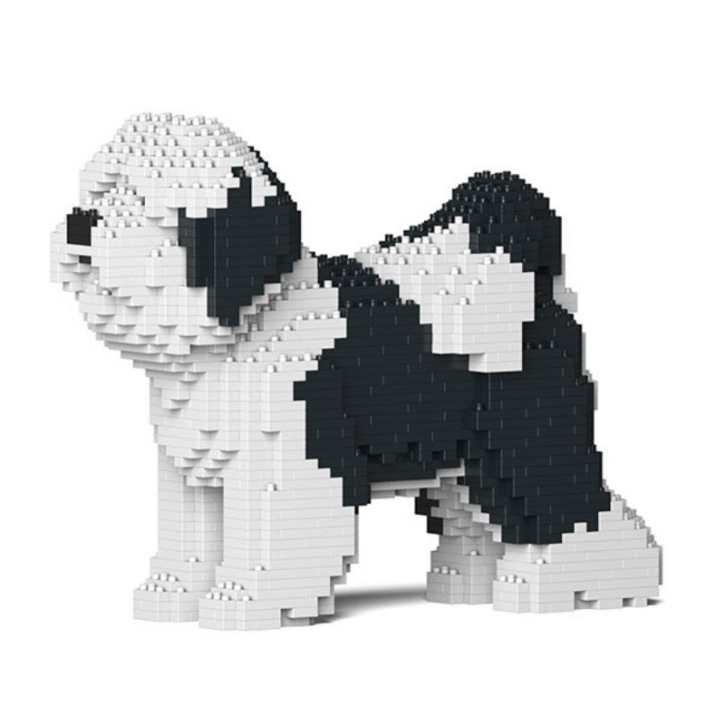 Tiberian Terrier Dog Jekca Lego Style Dog Sculpture Terrier