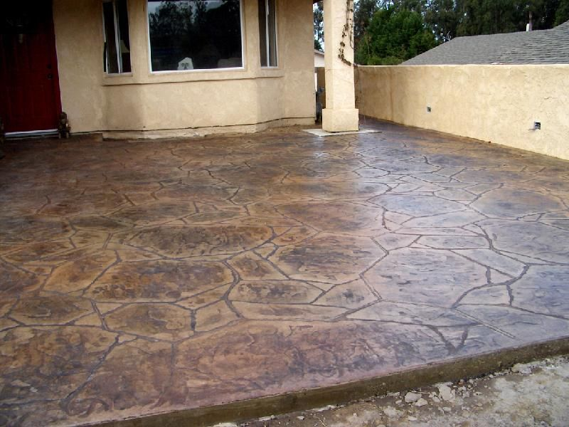 stamped concrete patterns | Stamped Concrete Flagstone Pattern ...