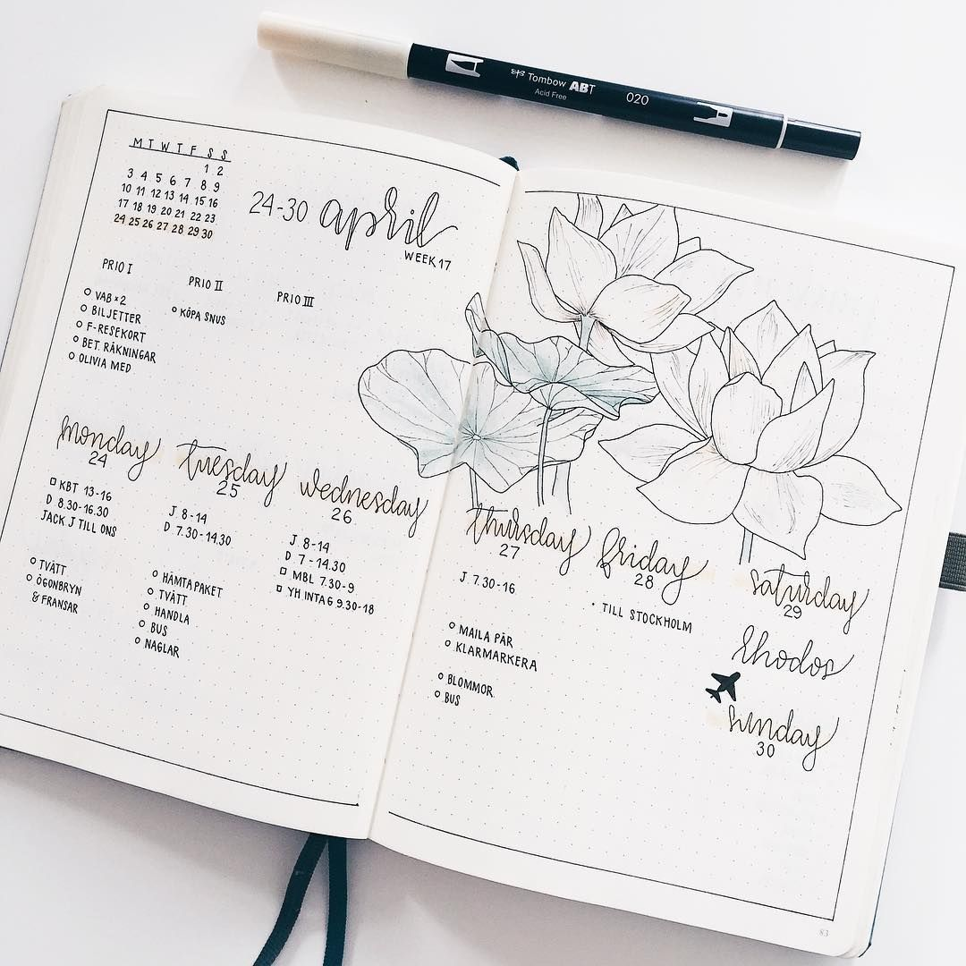 Pin by Andrianna Walsh on Inspiration | Bullet Journal
