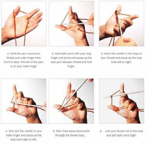 Knitting Tutorial Cast On : If i can cast on show you the rest mom how to